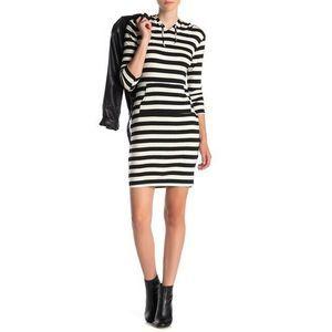 Velvet Torch Knit Hooded Dress TShirt Dress